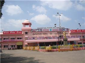 entrance of a railway station