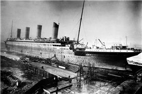 Fitting-out, 1911–12: Ship is seen in dock