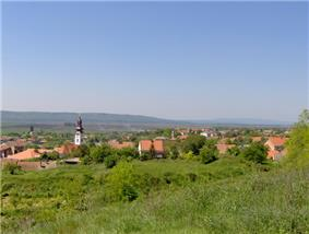Panorama view of Titel, seen from Titel Hill