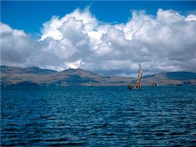 Lake Wiñaymarka, the southern part of Lake Titicaca