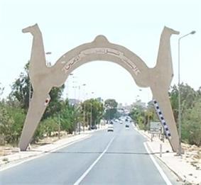 Entrance of the Kebili town
