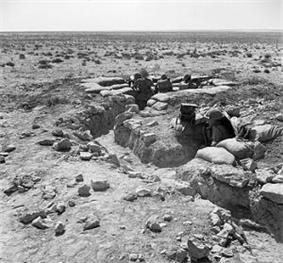 Australian troops in trench system