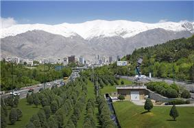 Mount Tochal seen from Modarres Expressway