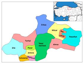 Districts of Tokat