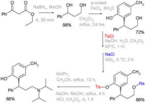 Tolterodine synthesis