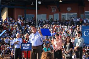 Ridge at McCain Palin rally