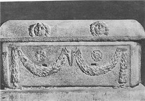 A photo of the sarcophagus of Pope Adrian IV
