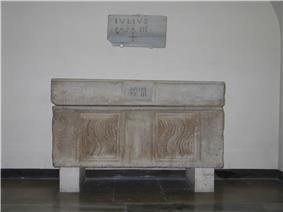 A photo of an ancient sarcophagus