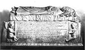 A photo of the sarcophagus of Pope Nicholas V