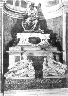 A photo of the tomb of Pope Paul III