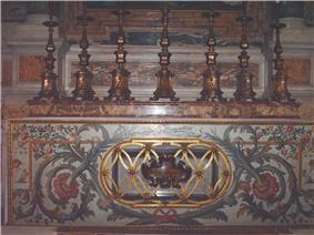 A photo of an altar