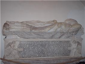 A photo of the sarcophagus of Pope Paul II