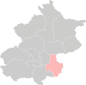 Location of Tongzhou District in Beijing