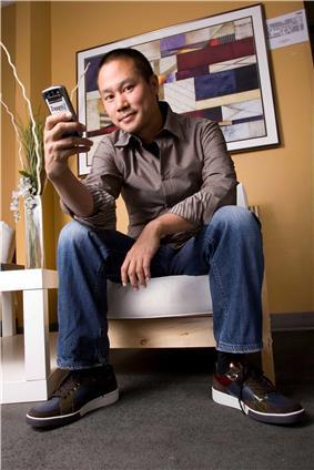 Tony Hsieh's Zappos identity badge in 2009