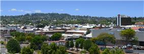 Toowoomba's CBD and Mount Lofty