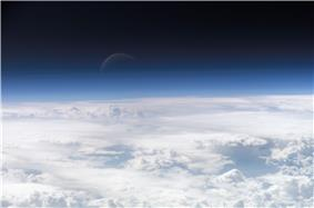 Toward the top of Earth's atmosphere