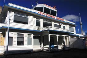 Exterior view of the original Toronto Island Airport Terminal Building