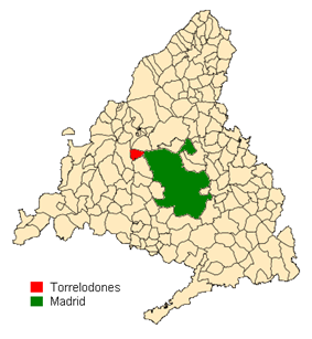 Location in the Community of Madrid, Spain