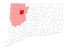 Location within Litchfield County, Connecticut