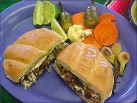 Typical Mexican Torta