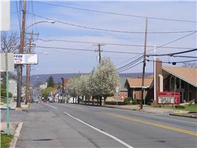 East Grand Avenue (Rt. 209), facing northeast