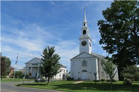 Town Hall and First Congregational Church
