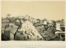 The town and fort of Trichinopoly photographed in 1840