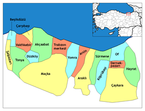 Districts of Trabzon