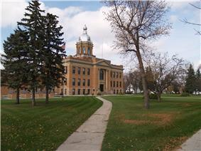 Traill County Courthouse in Hillsboro