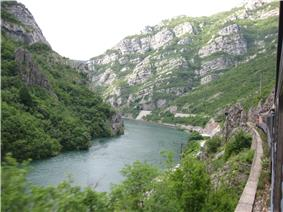 Picture taken from train between Jablanica and Mostar