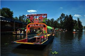 Trajinera boats at Xochimilco