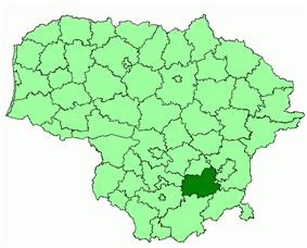 Location of Trakai district municipality