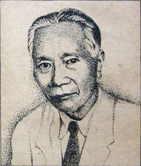 an old man with black hair, dressed in a suit and a tie