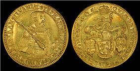 1605 10 Ducat gold coin, depicting Stephen Bocskay as Prince of Transylvania (1605-1606).