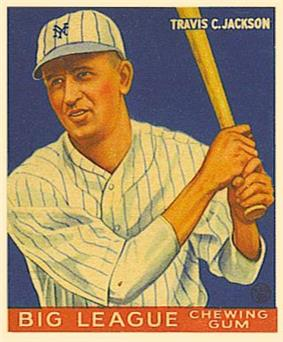 Image of Jackson's 1933 Goudey baseball card