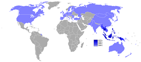 Countries that entered into the treaty by date