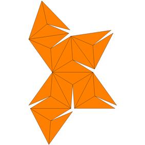 Triakis octahedron Net