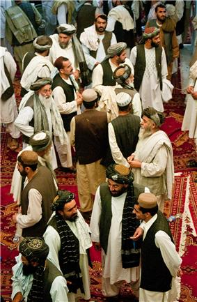 Pashtun men from southern Afghanistan