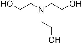 Skeletal formula of triethanolamine