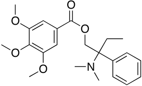 Chemical structure of Trimebutine.
