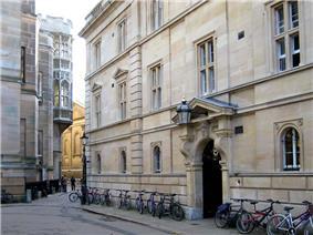 The main entrance to Trinity Hall in Trinity Lane