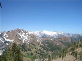 The Trinity Alps near Granite Lake.
