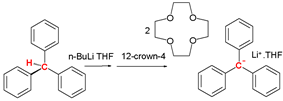 Formation of the triphenylmethane anion