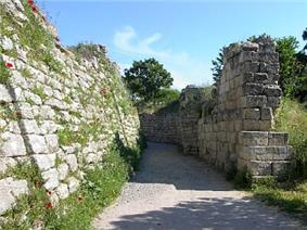 Ruined walls.