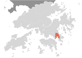 Location of Tseung Kwan O