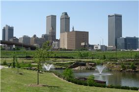 Downtown Tulsa's skyline in May 2008.