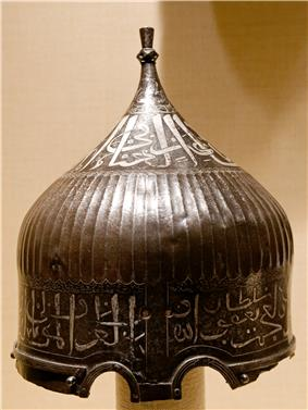 A sultan's turban helmet