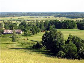 Samogitian landscape near Tverai.