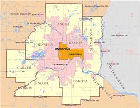 Lakeville, Minnesota is located in Minneapolis–Saint Paul