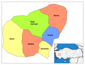 Districts of Uşak